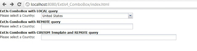 ExtJs 4 ComboBox using Java Servlet JSON object and MySQL database