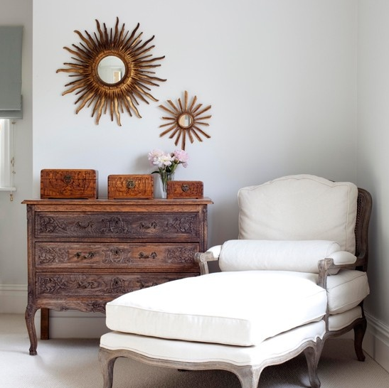 Sunburst Mirrors for Sitting Area Decor