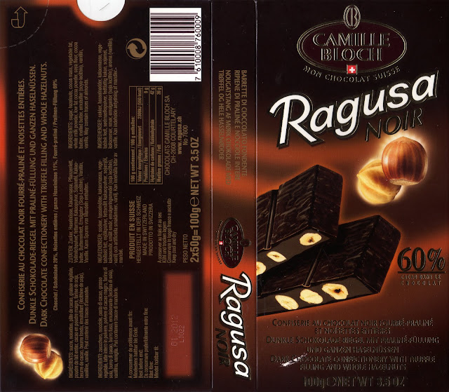 tablette de chocolat noir gourmand camille bloch ragusa noir 60