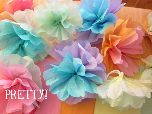 how to make tissue paper flowers instructions How to make tissue paper flowers that look like balloon flowers or written instructions here [] how to make tissue paper pom poms.