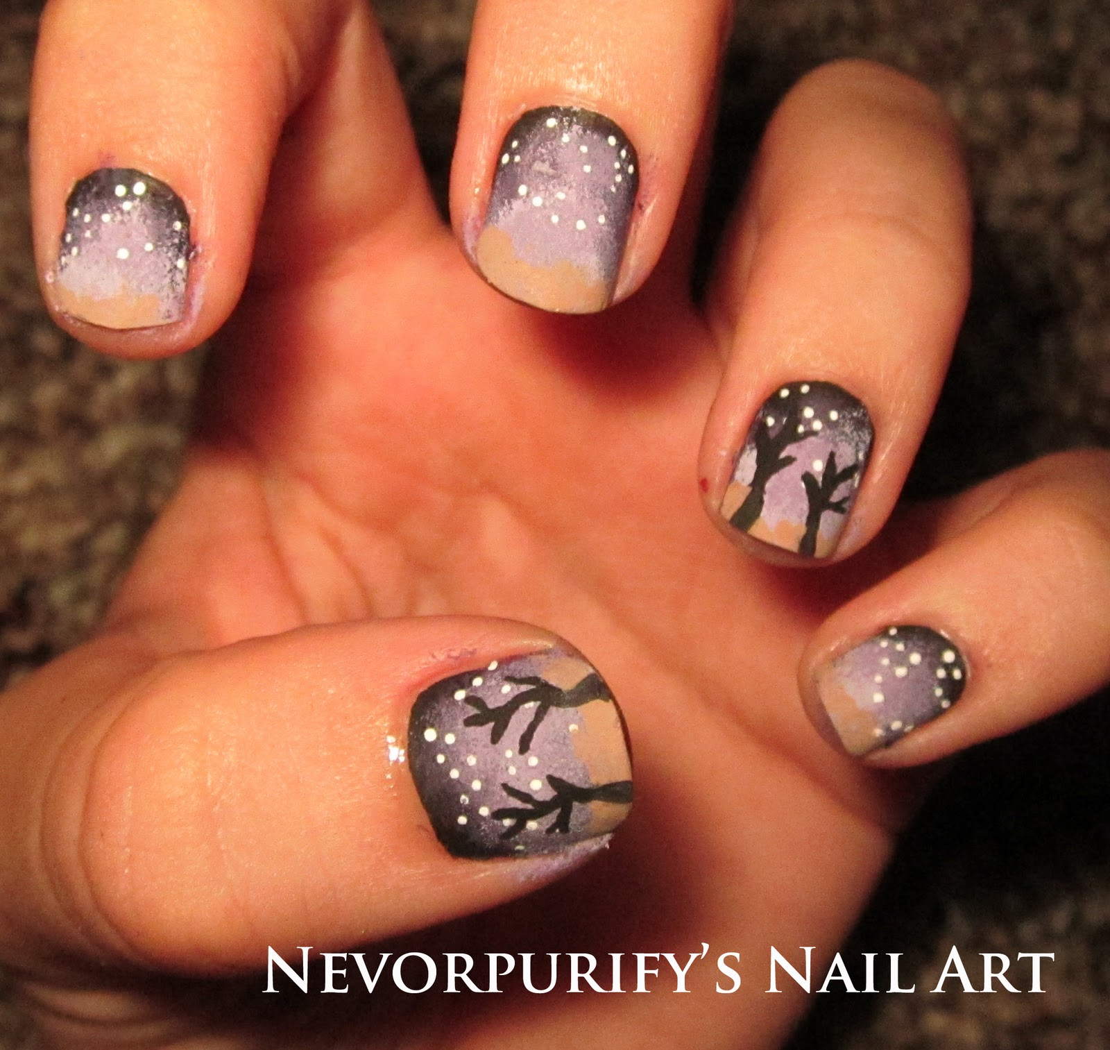 Nail Art Night: Nevorpurify's Nail Art