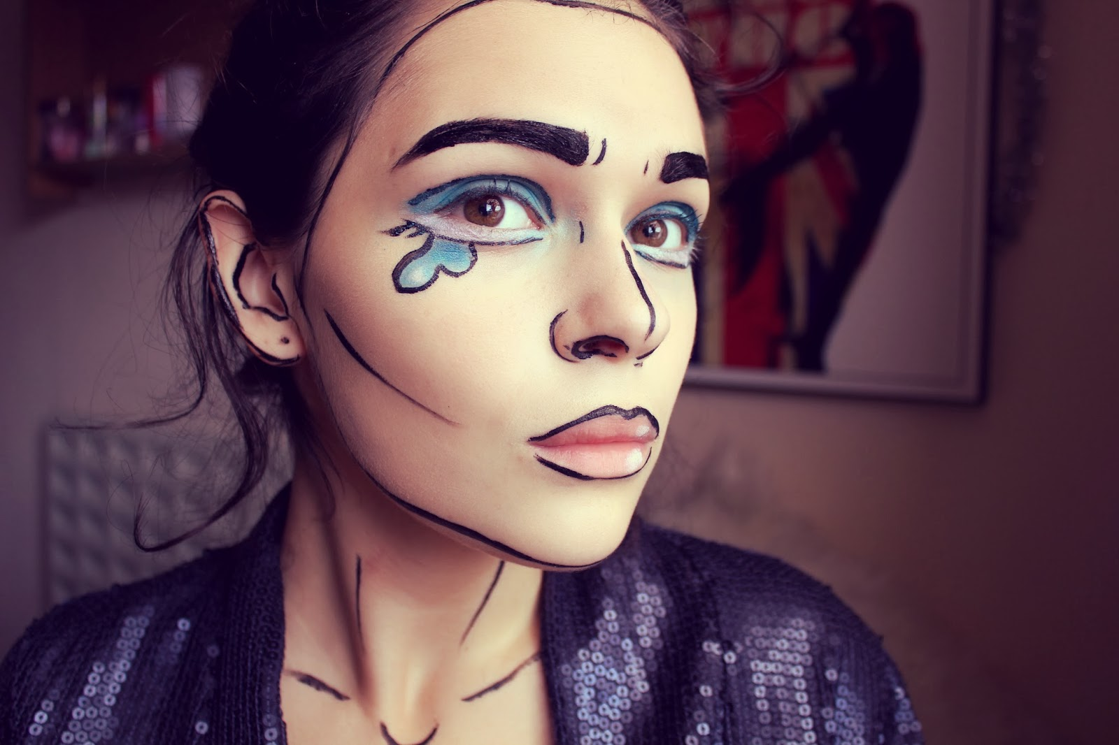 Pop art comic girl halloween makeup tutorial 4ngstyle by margaret pop art comic girl halloween makeup tutorial baditri Image collections