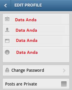 Cara Menggunakan Instagram Dengan Gambar Cara Ubah Data Profil
