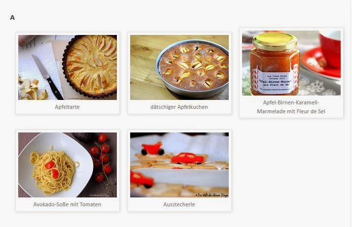 Rezeptegalerie in Blogger erstellen