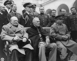 Churchill-Roosevelt-Stalin at Yalta Conference February 1945