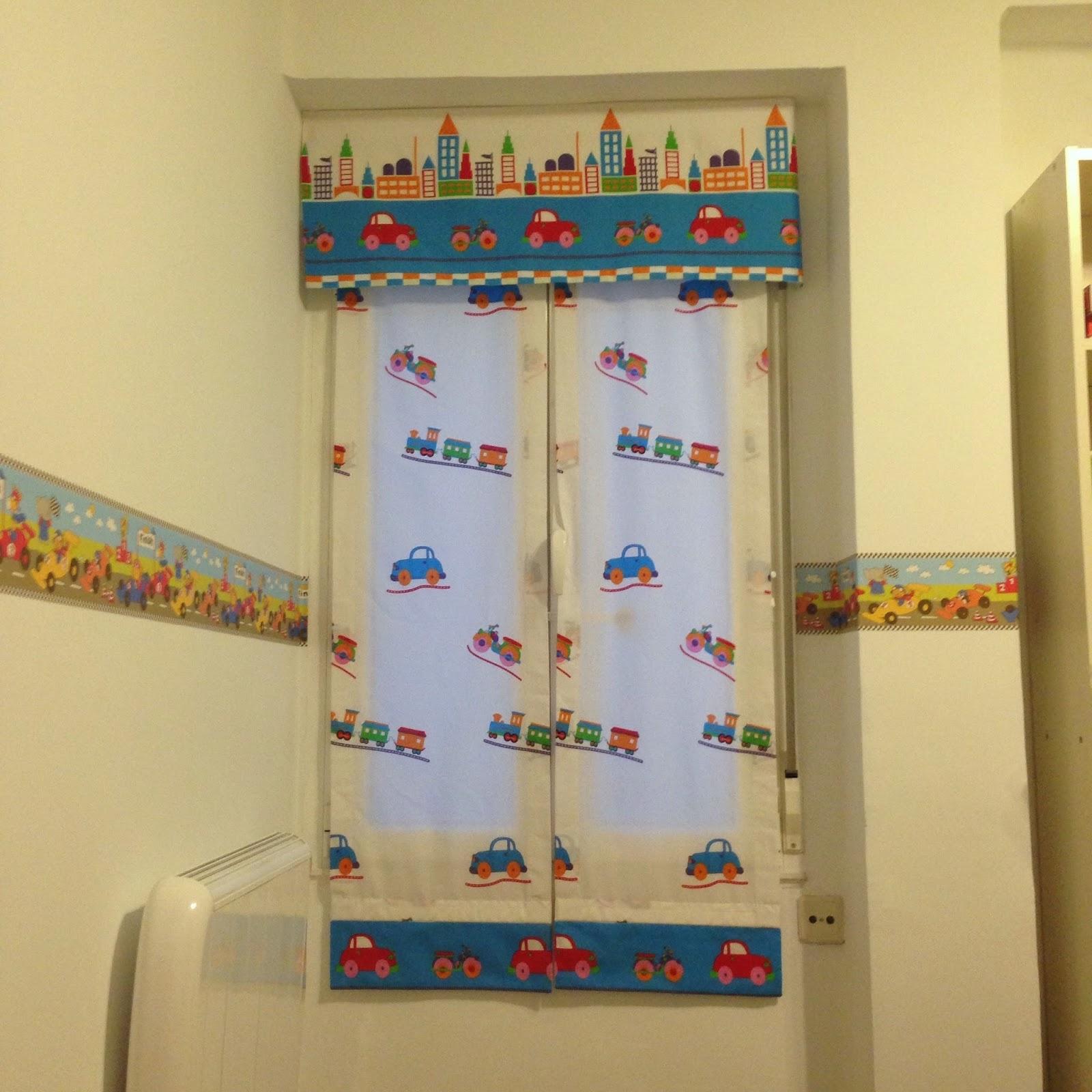 estores para habitacin de nio hoy os traigo un proyecto cosido por mi madre se trata de unas cortinas tipo estor con band de cochecitos