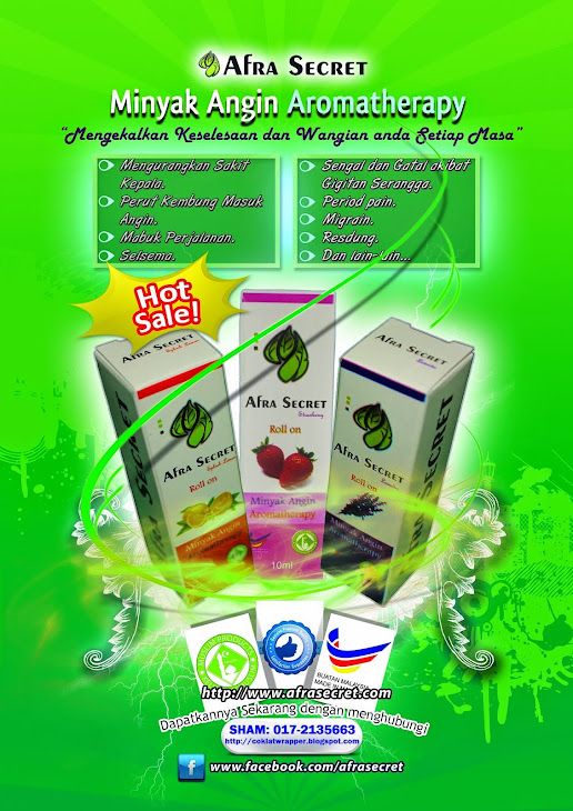 Minyak Angin Aromatherapy. Sham: 017-2135663