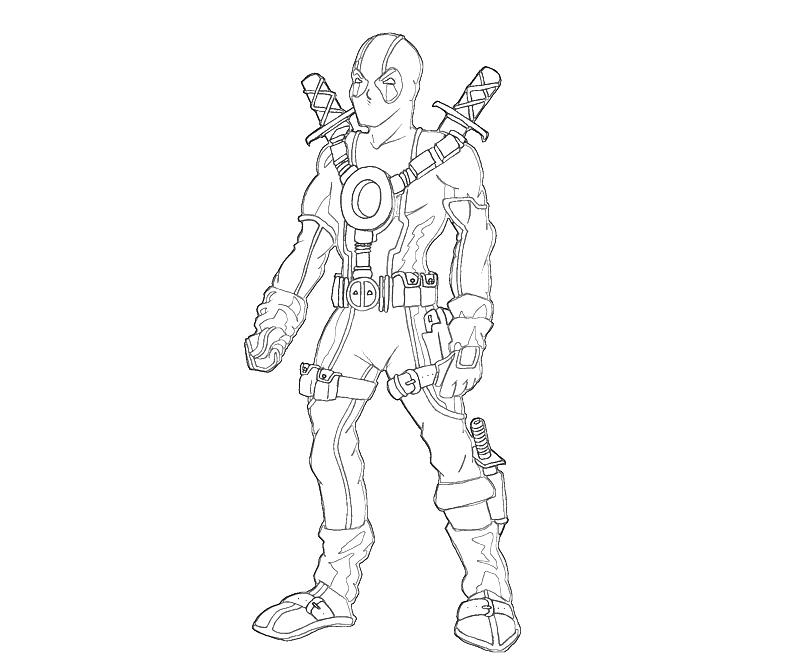 Printable Deadpool Character Coloring Pages 4 title=