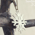 Snowflake Necklace DIY