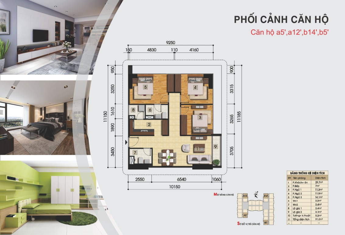 Thiết kế căn hộ a5', a12', b14', b5'