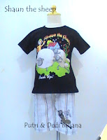stelan baju kartun shaun the sheep