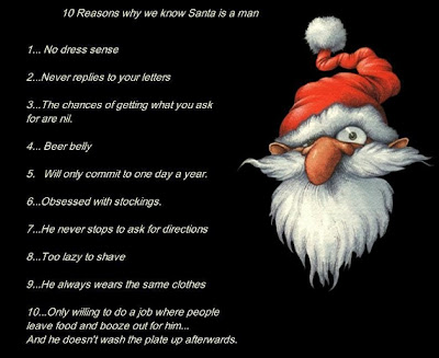 why Santa is a man