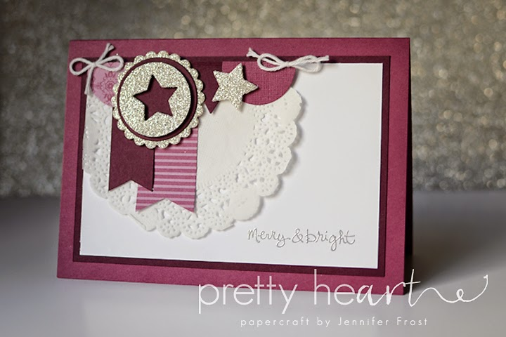 Stampin' Up! Good Greetings, Rich Razzleberry, Christmas Card