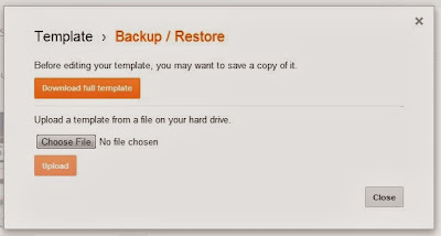 How to Create a Backup of Blogger Template