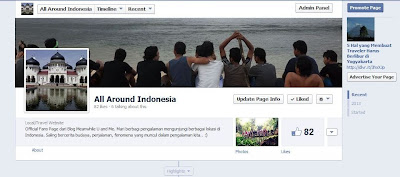 Facebook Page All around Indonesia Meanwhile U and Me