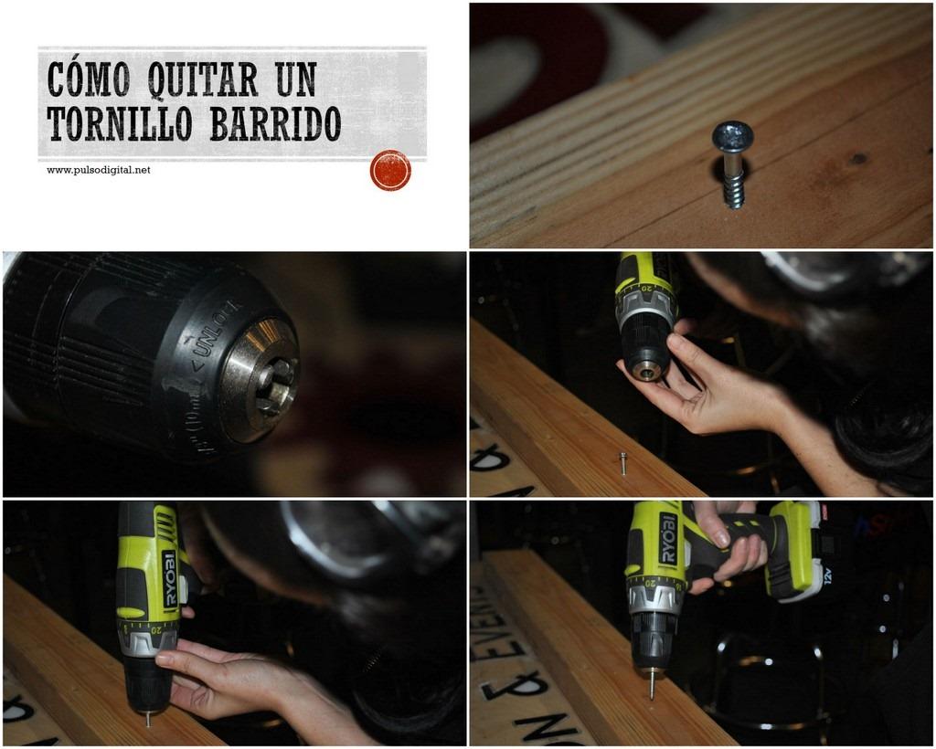 Cómo quitar un tornillo barrido