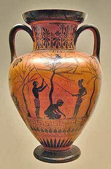 L 39 ulivo nella storia le rappresentazioni nei vasi antichi for Vasi antichi