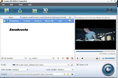 Leawo HD Video Converter 5.2.0.0 herramienta de conversi�n de v�deo muy completa
