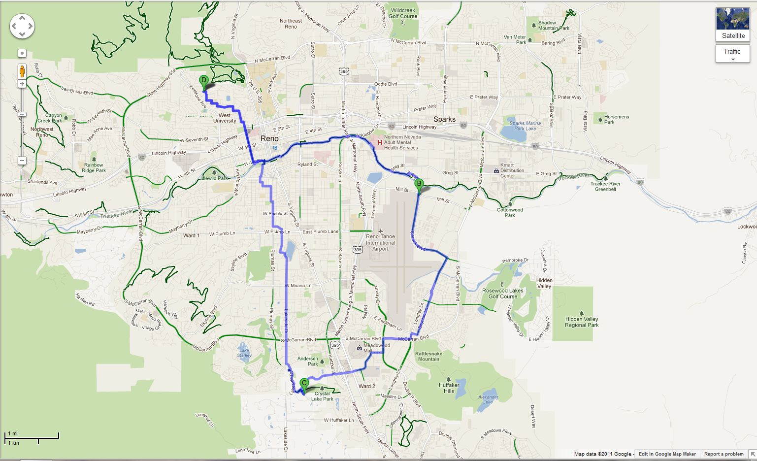 Riding in Reno: City by bike (via the ever improving Google Maps)! on satellite map reno, google map dallas pa, area code map reno, google nv, weather reno, craigslist reno, google state of nevada, google map portland oregon,