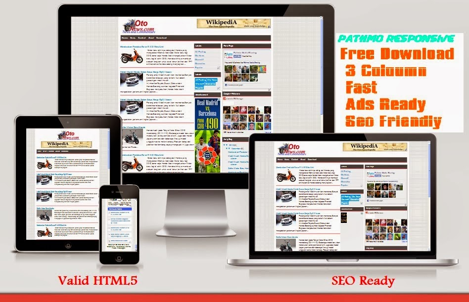 JS Magz Responsive Blogger Template for Adsense