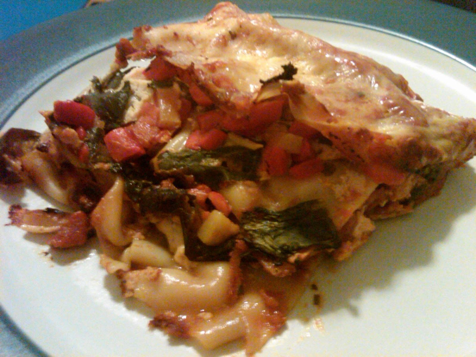 ... Lasagna (with Eggplant, Caramelized Onions, Spinach, and Roasted Red