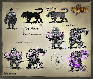 wildman cat polymorph concept art