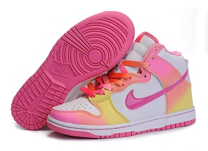 Colorful Nike Sneakers White Neon The Swoosh and mid-sole stitching along  with the out sole balance everything off in a solid pink shade. GS Colorful  Nikes
