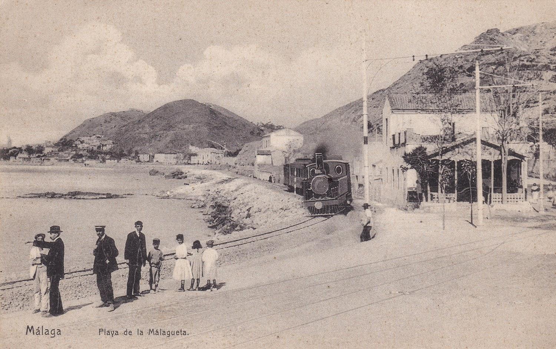 Playa de la Málagueta, Málaga, años 10