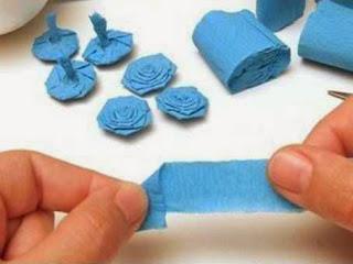 Jenis Kerajinan Tangan Dari Kertas, Bola Bunga Kertas Krep 3