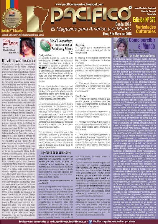 Revista Pacifico Nº 379 Variedades Culturales