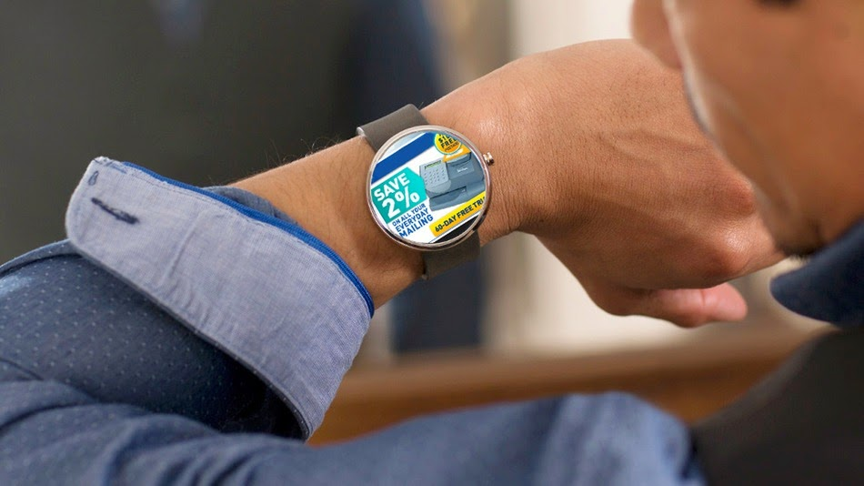 Ads on a smartwatch