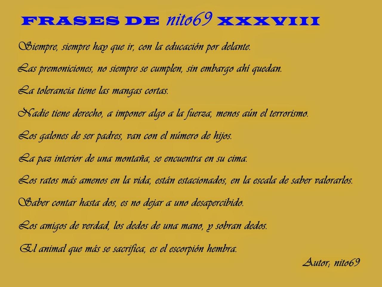 FRASES DE nito69 XXXVIII