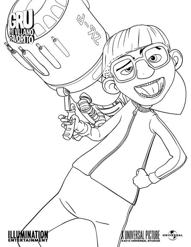 Gru mi villano favorito para dibujar pintar colorear for Gru coloring pages