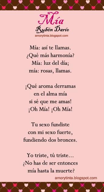 Mía (Rubén Darío)