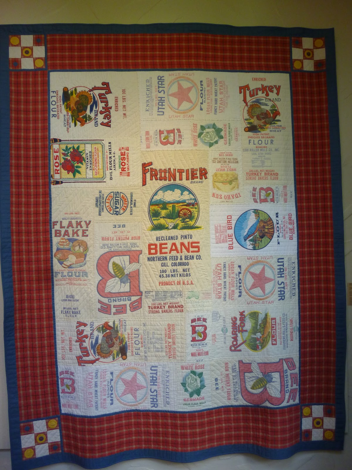 A Place to Share: Winners all. . . : flour sack quilt - Adamdwight.com