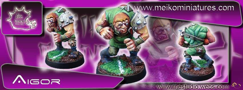 Aigor the Insane: Thrall Star Player or Apothecary - Meiko Miniatures