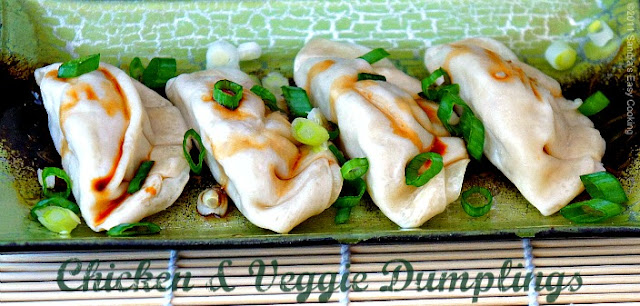 Delicious homemade Steamed Chicken & Veggie Potsticker - Dumplings