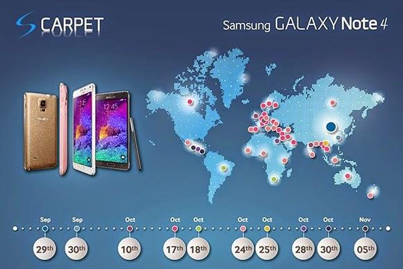 Galaxy Note 4 Türkiye tanıtım tarihi