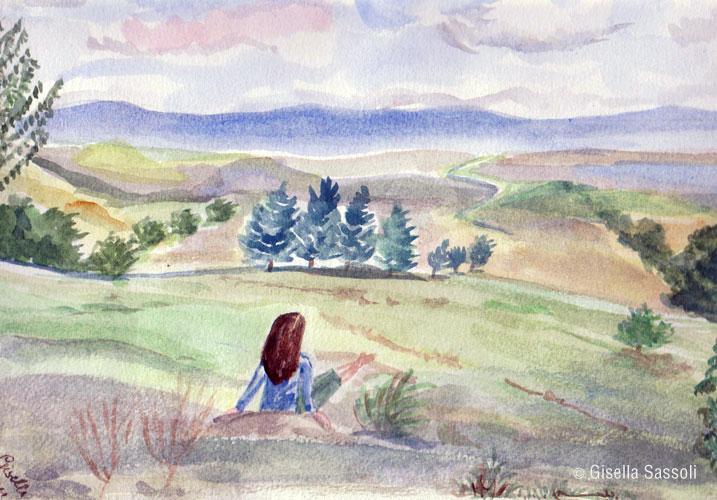 gisella sassoli acquerelli paesaggio