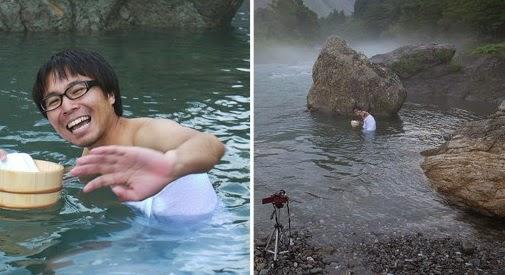 Novia imaginaria en onsen