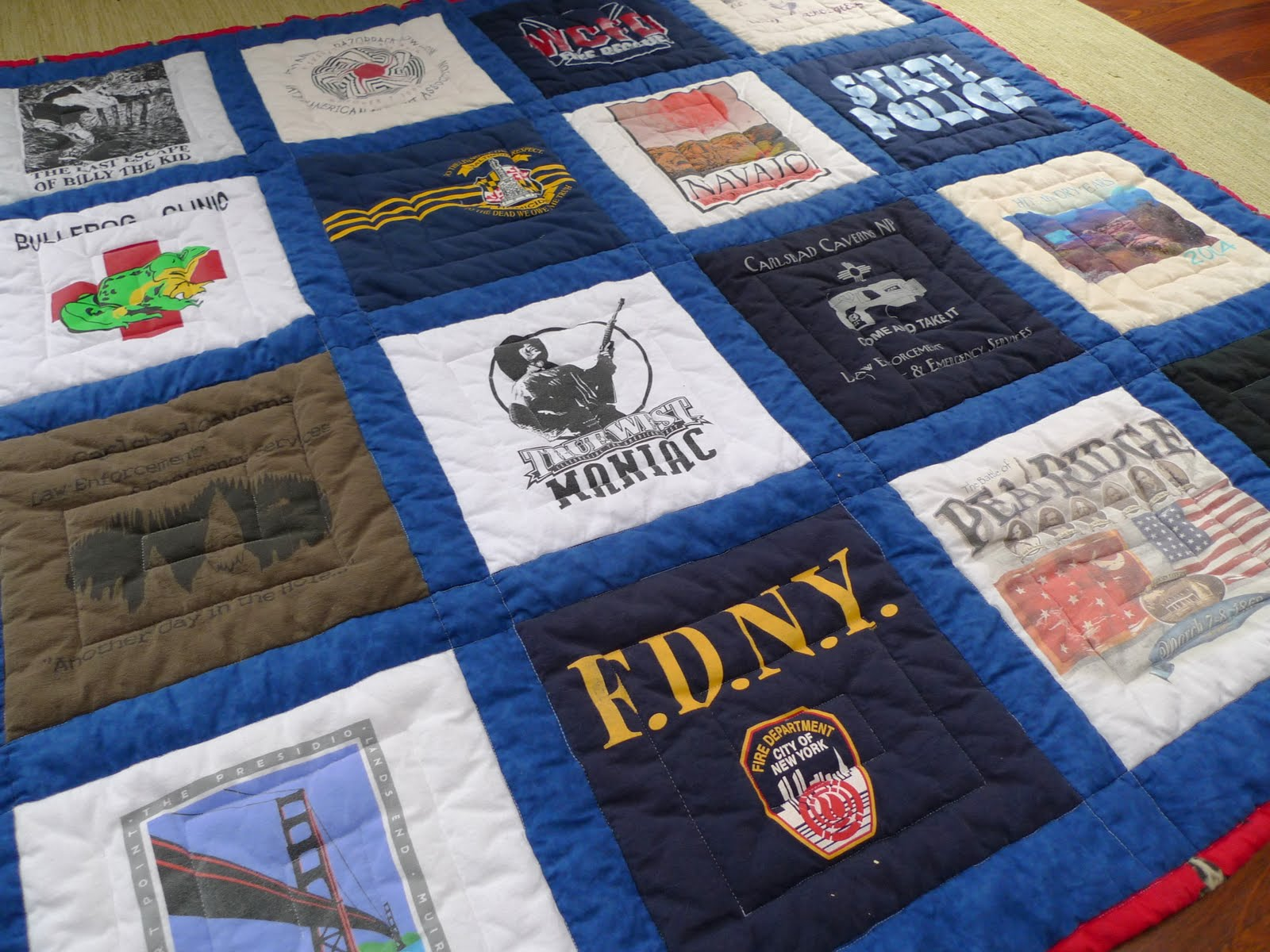 how to make a tshirt quilt with sashing