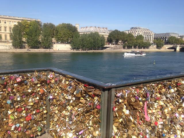 France Paris holiday bridge and love locks