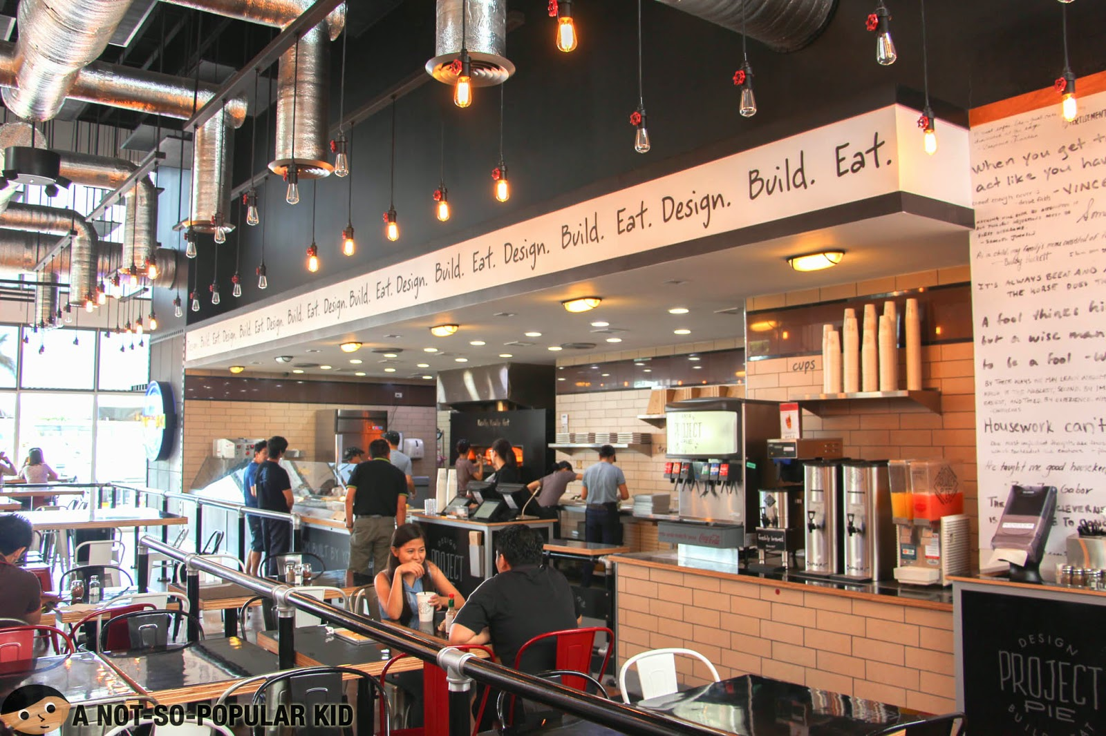 More of the interior of the Project Pie in Blue Bay, Pasay City