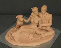 sculture personalizzate per torte nuziali matrimonio statuette orme magiche