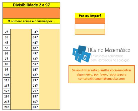 Confira um pouco sobre múltiplos e divisores com o Excel