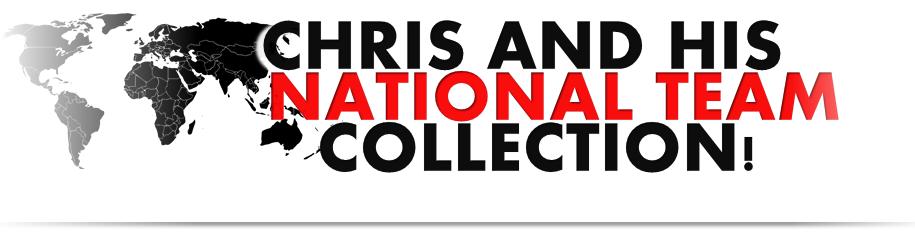 CHRIS UND SEINE NATIONAL-TRIKOTS