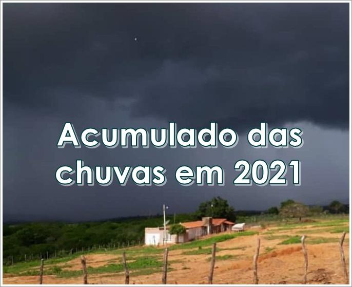 Acumulado das chuvas em São Miguel em 2021