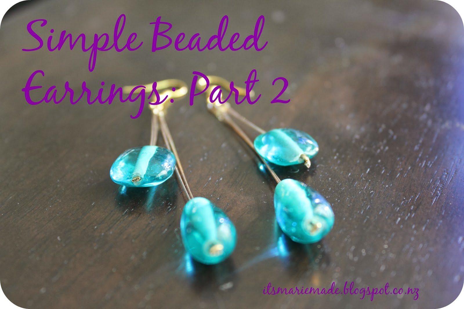 It\'s Marie Made!: How to: Simple Beaded Earrings Part 2