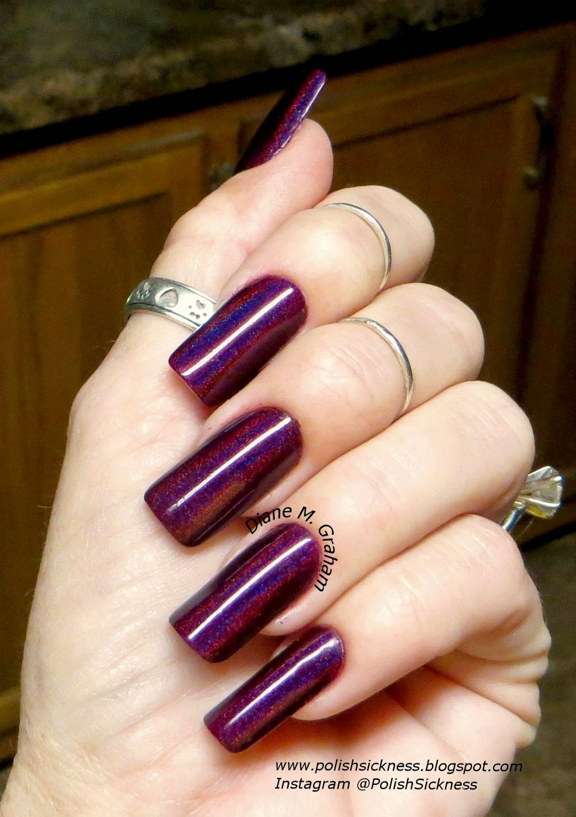 Darling Diva BEWBS!, Color Club Cosmic Fate, BM XL19 stamp