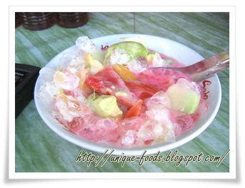 Ice fro is the fresh beverage for cooling down your thirsty in hot weather. Ice fro has original name that is Kolang-kaling. It is kind of plant that grow up in our country. This fruits also could be additional stuff for making Kolak or Cassava and Banana soup. Ice fro comes from central java which is popular with another ice such as: Ice Dawet Ayu, Ice Degan (Coconuts), and many others. When you visit Indonesia, don't have any hesitation to enjoy this beverage.